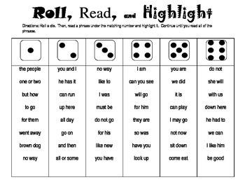 Roll, Read, Highlight