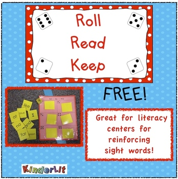 Roll  Read  Keep  A Sight Word Game