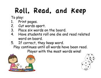 Roll Read Keep long e, ee;ea