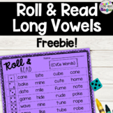 Roll & Read Long Vowels and Vowel Teams! Centers, small group, partner practice