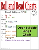 Roll & Read Open Syllable E Charts
