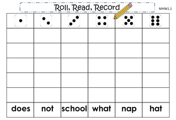 McGraw-Hill Wonders First Grade Unit One Roll, Read, Record