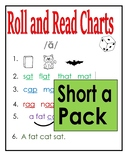 Roll & Read Short a pack - COLOR & B/W  (aka - Toughy Charts)