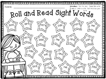 Roll & Read Sight Words