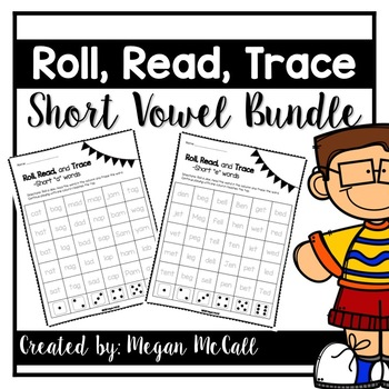 Roll, Read, Trace-Short Vowel Bundle