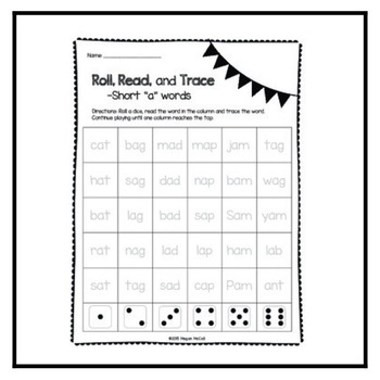 Roll, Read, Trace--Freebie!!!