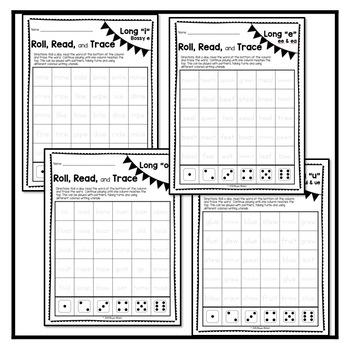 Roll, Read, Trace-Long Vowel Bundle