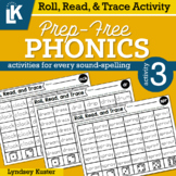 Roll, Read, & Trace | Prep-Free Phonics | Distance Learning
