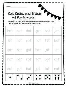 Roll, Read, Trace—Short O