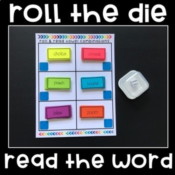 Vowel Combinations Game - Roll & Read