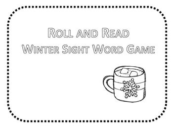Roll & Read - Winter Sight Word Game