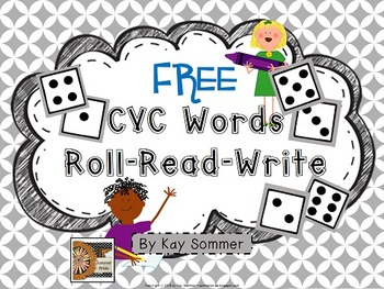 Roll Read Write CVC Words {FREE}