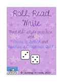 Roll, Read, Write: Combining Parts of Speech with Coordinate Grid Practice