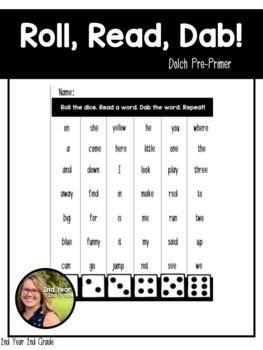 Roll, Read, & Write - Dolch Pre-Primer
