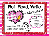 February Word Work {Roll, Read, Write - February}
