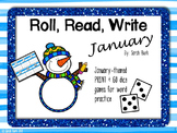 January Word Work {Roll, Read, Write - January}
