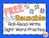 Roll-Read-Write Sight Word Practice Game   FREE