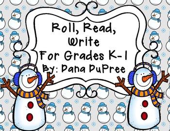 Roll, Read, Write, Snowman Edition