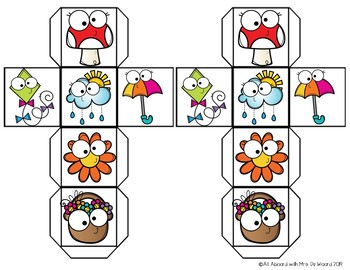 Roll, Read, & Write Spring Sight Words
