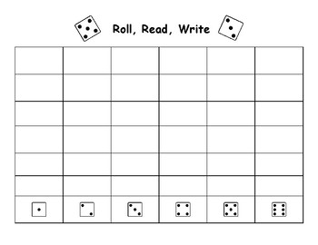 Roll, Read, Write Template