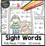 Sight Words: Roll, Read, & Color: Autumn Days; F&P High Fr