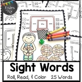 Sight Words: Roll, Read, and Color: Basketball; F&P High F