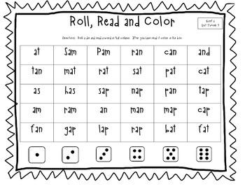 Roll, Read and Color (California Treasures)