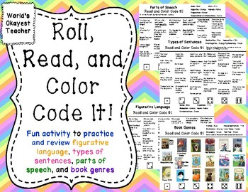 ELA Skills: Roll, Read, and Color Code It!