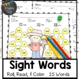 Sight Words: Roll, Read, & Color:Down on the Farm; F&P Hig