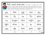 Roll, Read, and Cover Long I Patterns