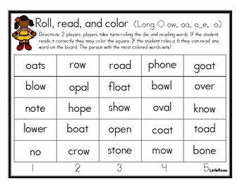 Roll, Read, and Cover Long O Patterns