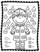 Sight Words: Roll, Read, and Color: Rainy Day; F&P High Frequency Words 1-25