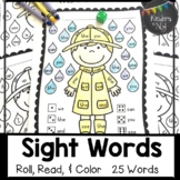 Sight Words: Roll, Read, and Color: Rainy Day; F&P High Fr
