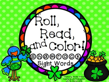 Roll, Read and Color! Shamrock Sight Words