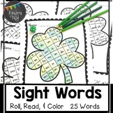 Sight Words: Roll, Read, & Color: Shamrock; St. Patrick's