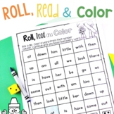 Roll, Read and Color- Sight Word Edition