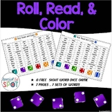 Roll Read and Color Sight Words FREE