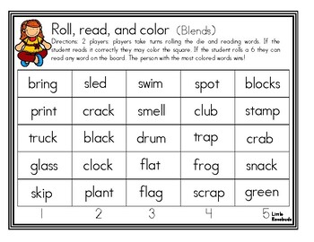 Roll, Read, and Cover Blends