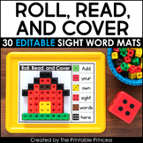 Roll, Read, and Cover | Editable Sight Word Activities
