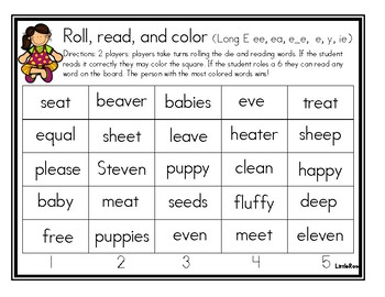 Roll, Read, and Cover Long E Patterns