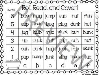 Roll, Read, and Cover Short Vowels