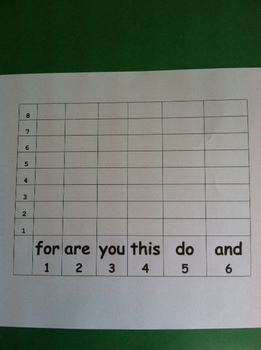 Roll, Read and Graph Sight Word Game