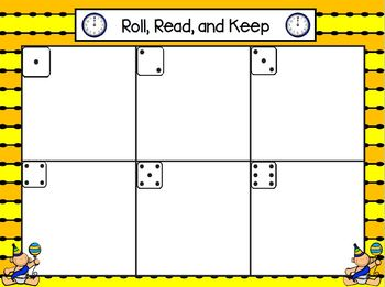 Roll, Read, and Keep:  LOW PREP New Year Themed Roll, Say, and Keep Activity