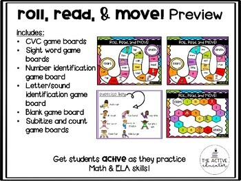 Roll, Read, and Move!