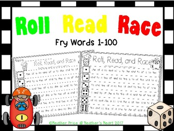 Roll, Read, and Race Fry Sight Words 1-100