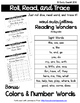 Roll, Read, and Trace Sight Words and CVC Words Bundle