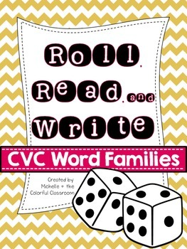 Roll, Read, and Write! {CVC Word Family Printables}