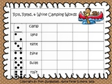 Roll, Read, and Write Camping Words