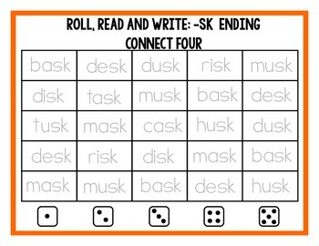 Roll, Read and Write: Connect Four