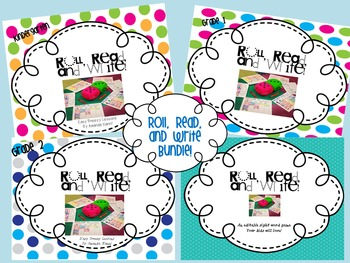 Roll, Read, and Write Dolch Words Bundle! K-2